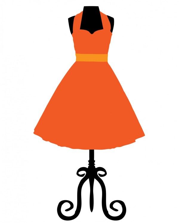 Vintage Dress Mannequin Clip Art