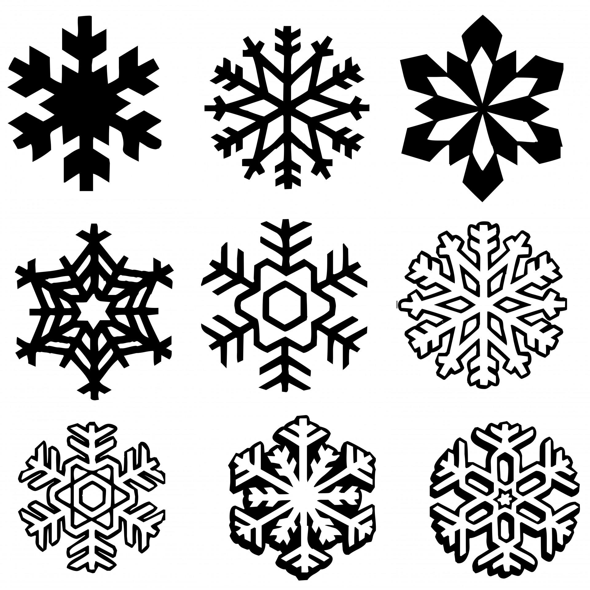 Snowflakes Set Free Stock Photo
