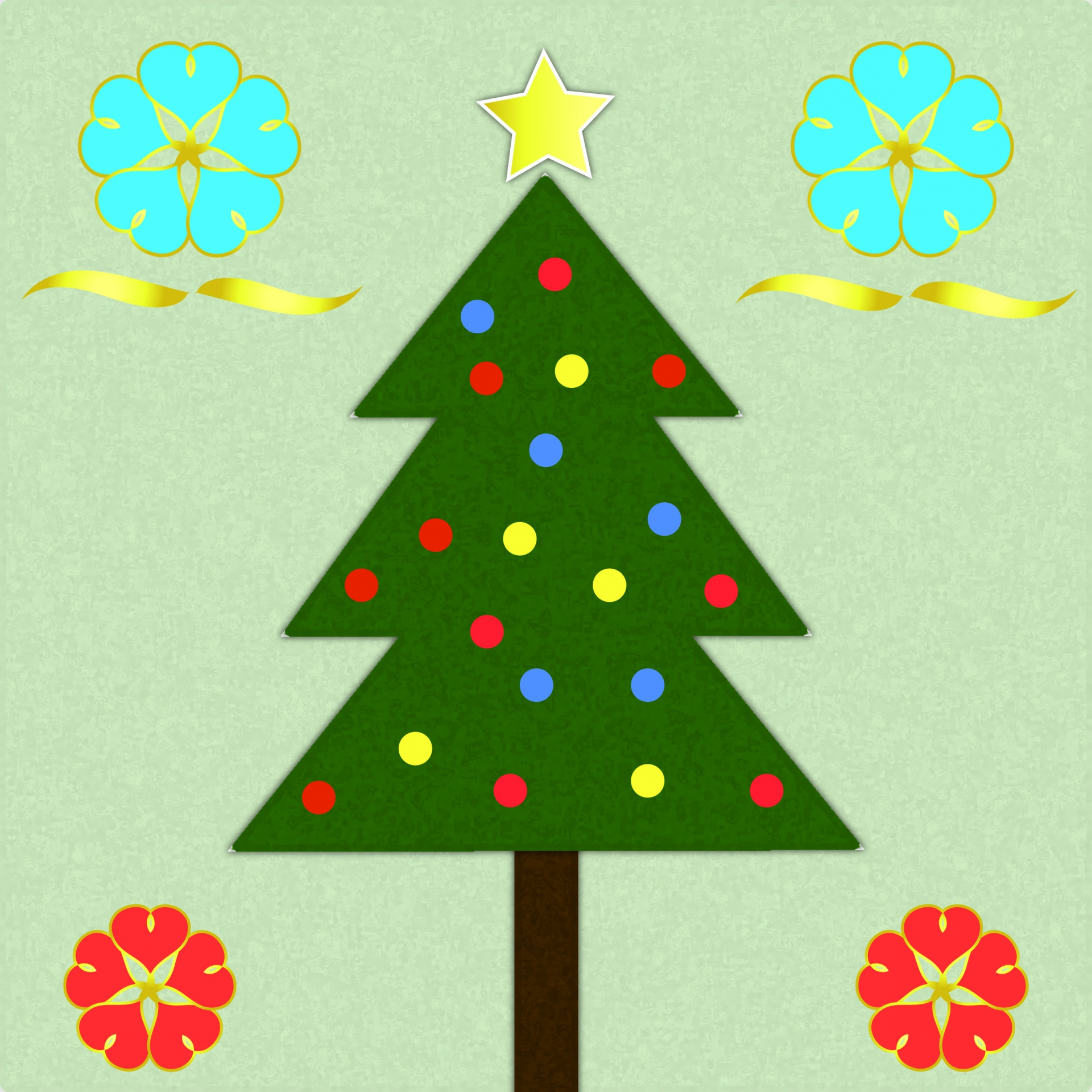 Christmas Trees Pattern Background Free Stock Photo - Public Domain Pictures