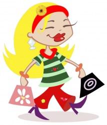 shopping clipart woman clip fall cartoon cliparts clipartix gclipart transparent publicdomainpictures domain