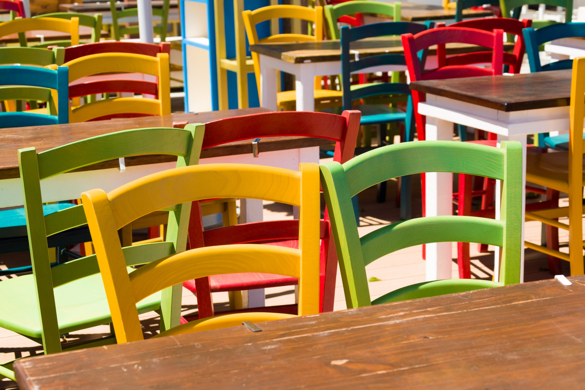 Colorful Wooden Chairs Colorful Wooden Chairs Free Stock Photo Public Domain