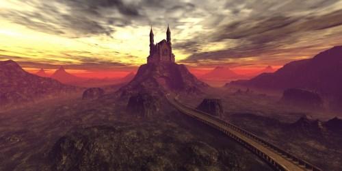fantasy medieval castle background wolf mountain domain worlds illusion burg publicdomainpictures