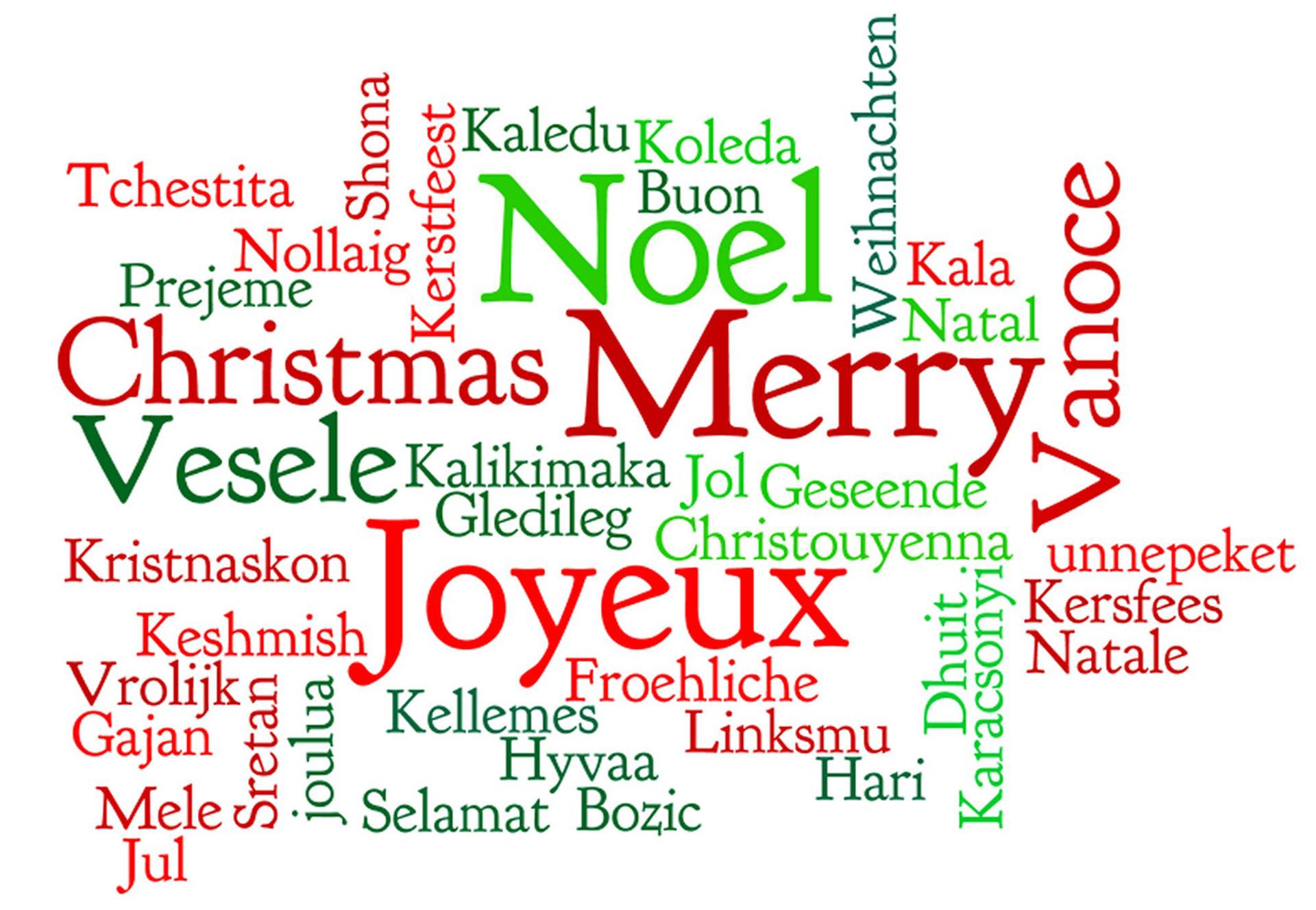 Christmas Word Cloud Free Stock Photo