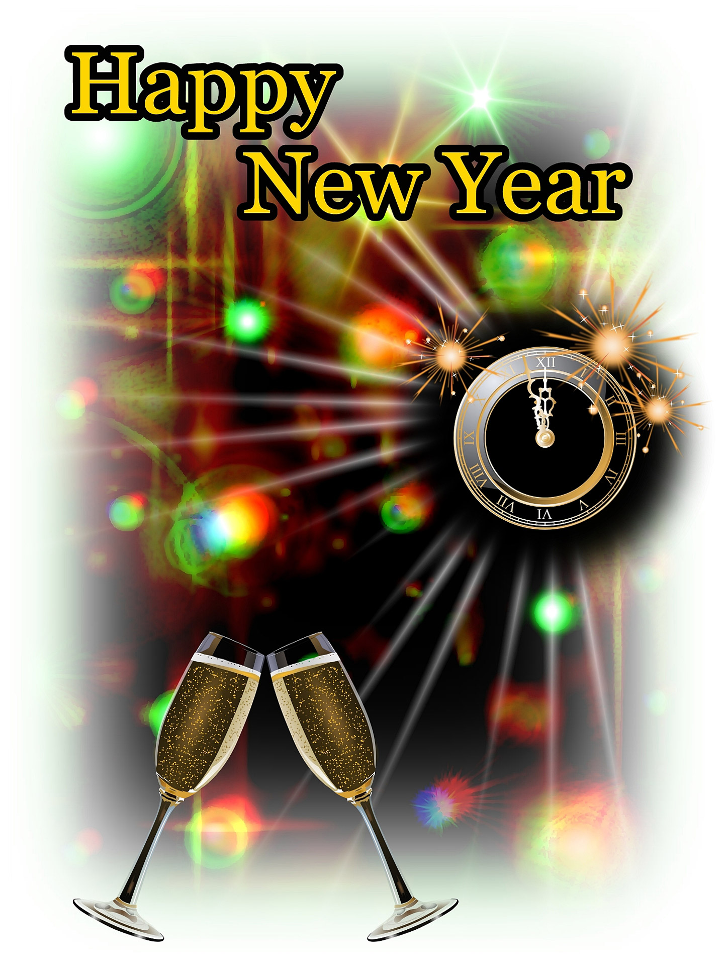 Happy New Year 2 Free Stock Photo  Public Domain Pictures