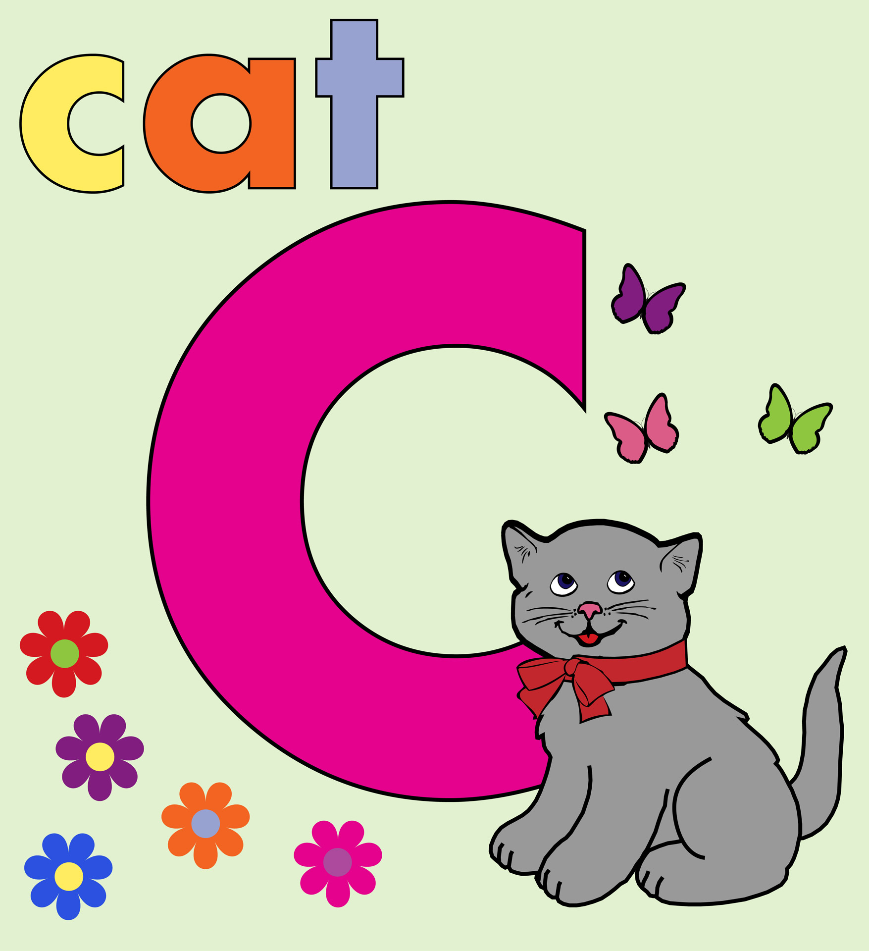 Cat Alphabet Letter C Free Stock Photo