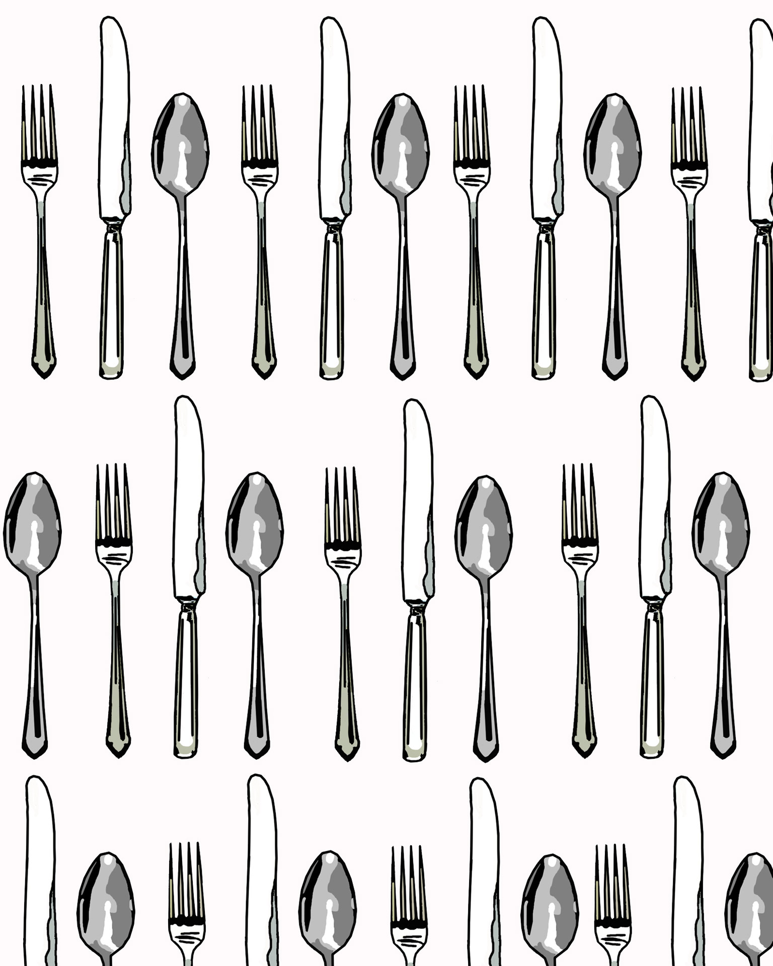 Fork Spoon Amp Knife Set Free Stock Photo