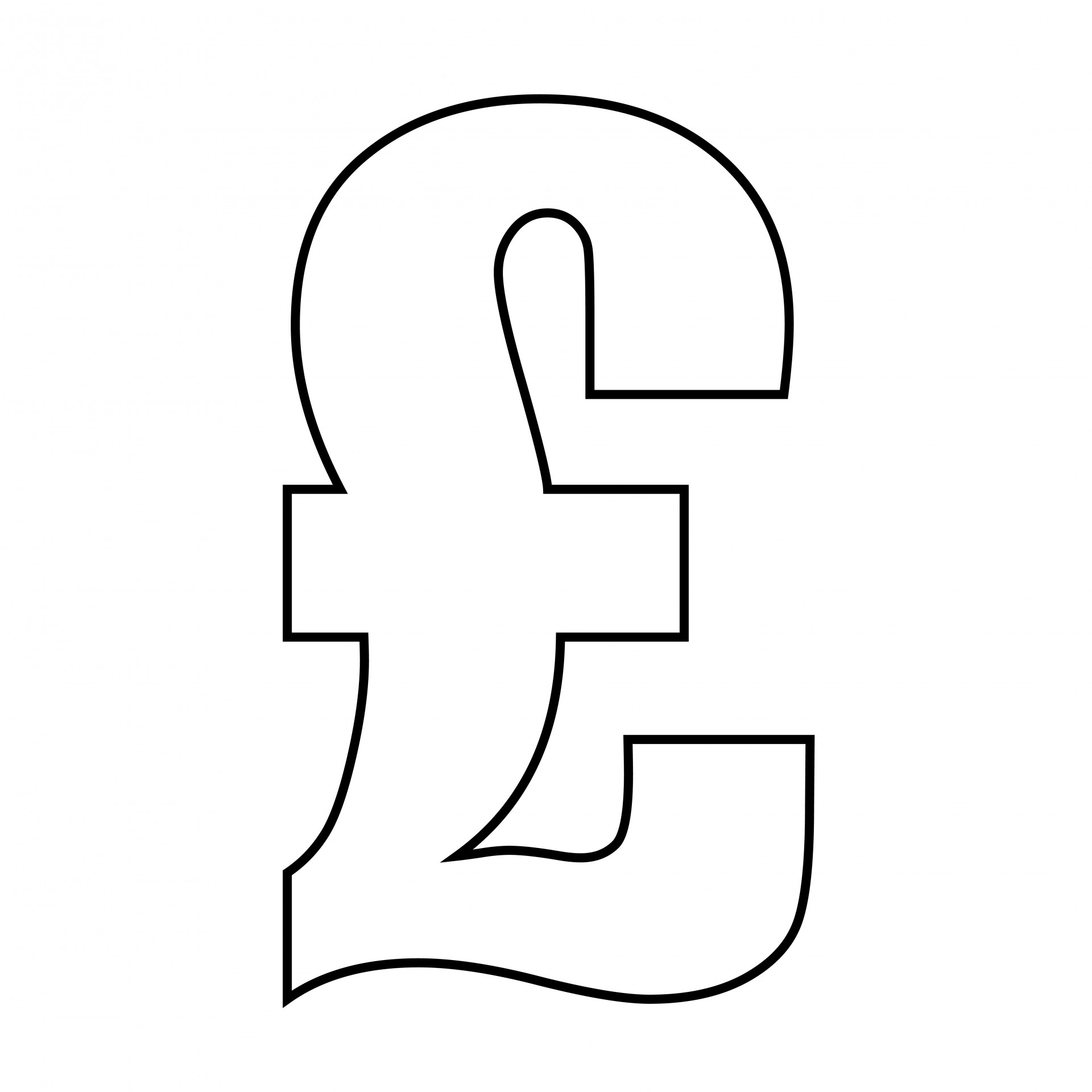 Pound Sign Outline Clipart Free Stock Photo