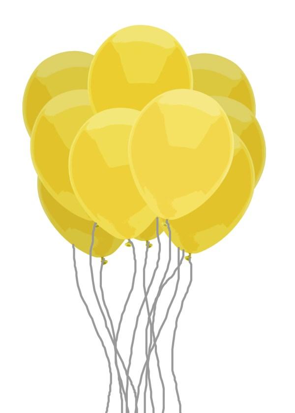 yellow balloon bunch free stock