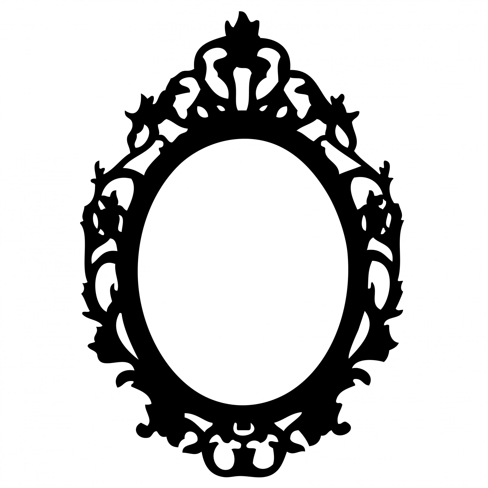 Ornate Black Frame Clipart Free Stock Photo