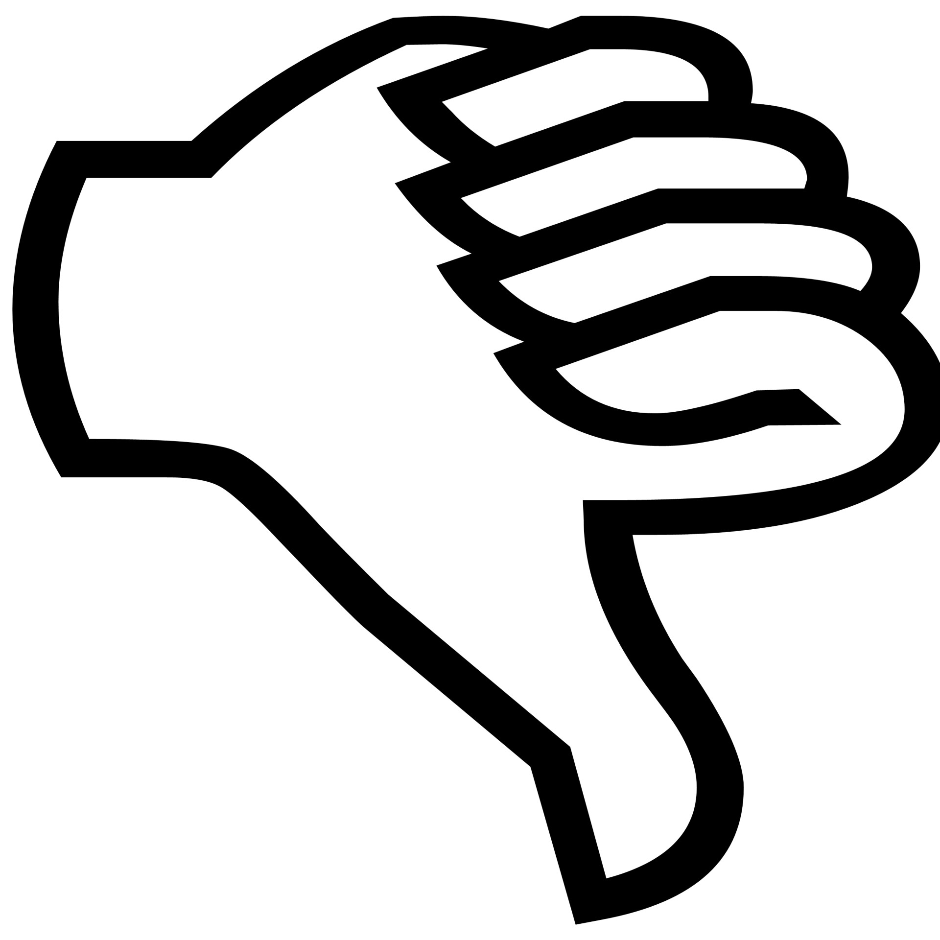 Thumb Down Silhouette Free Stock Photo