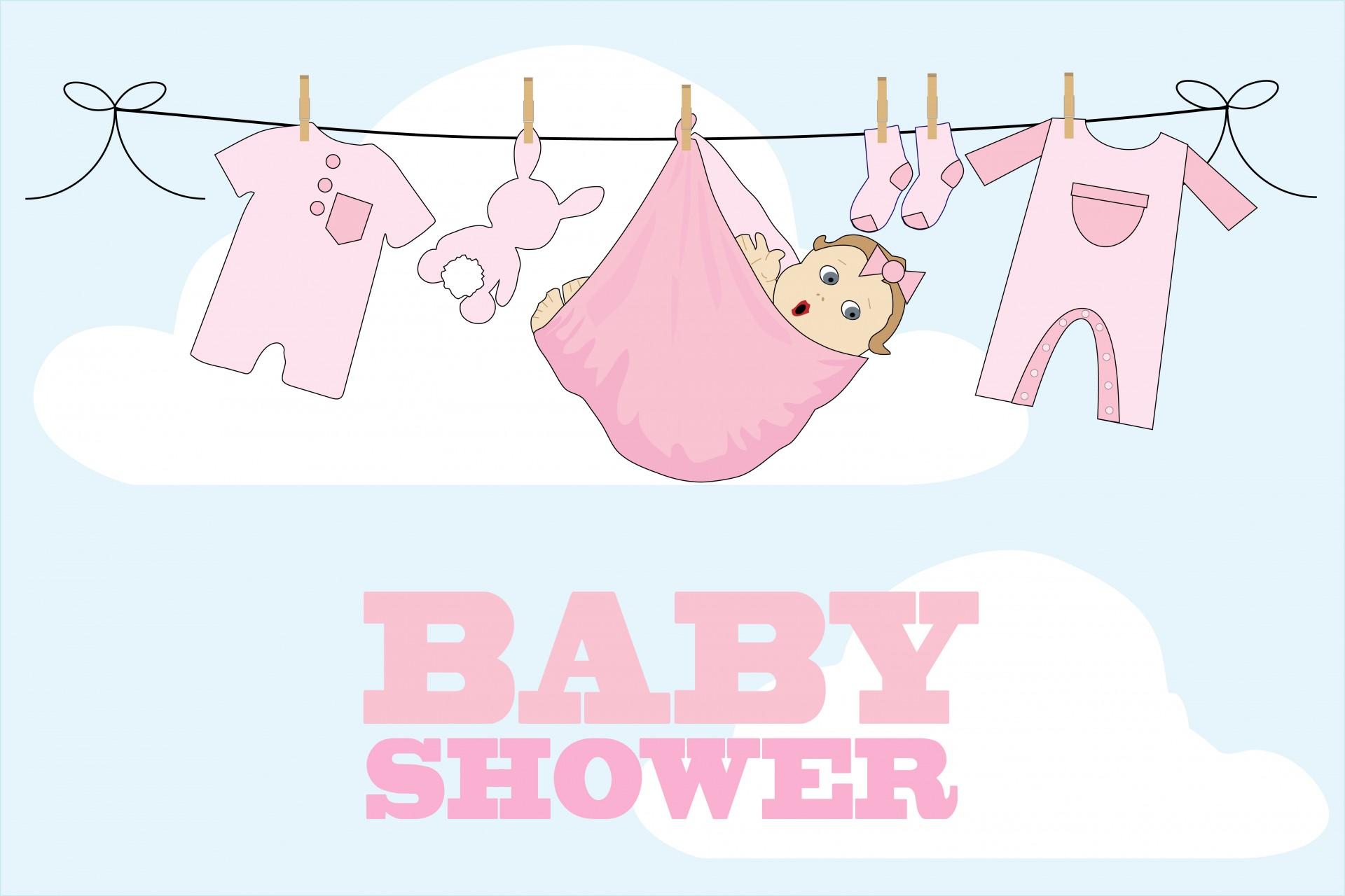 Baby Shower Card Girl Free Stock Photo  Public Domain