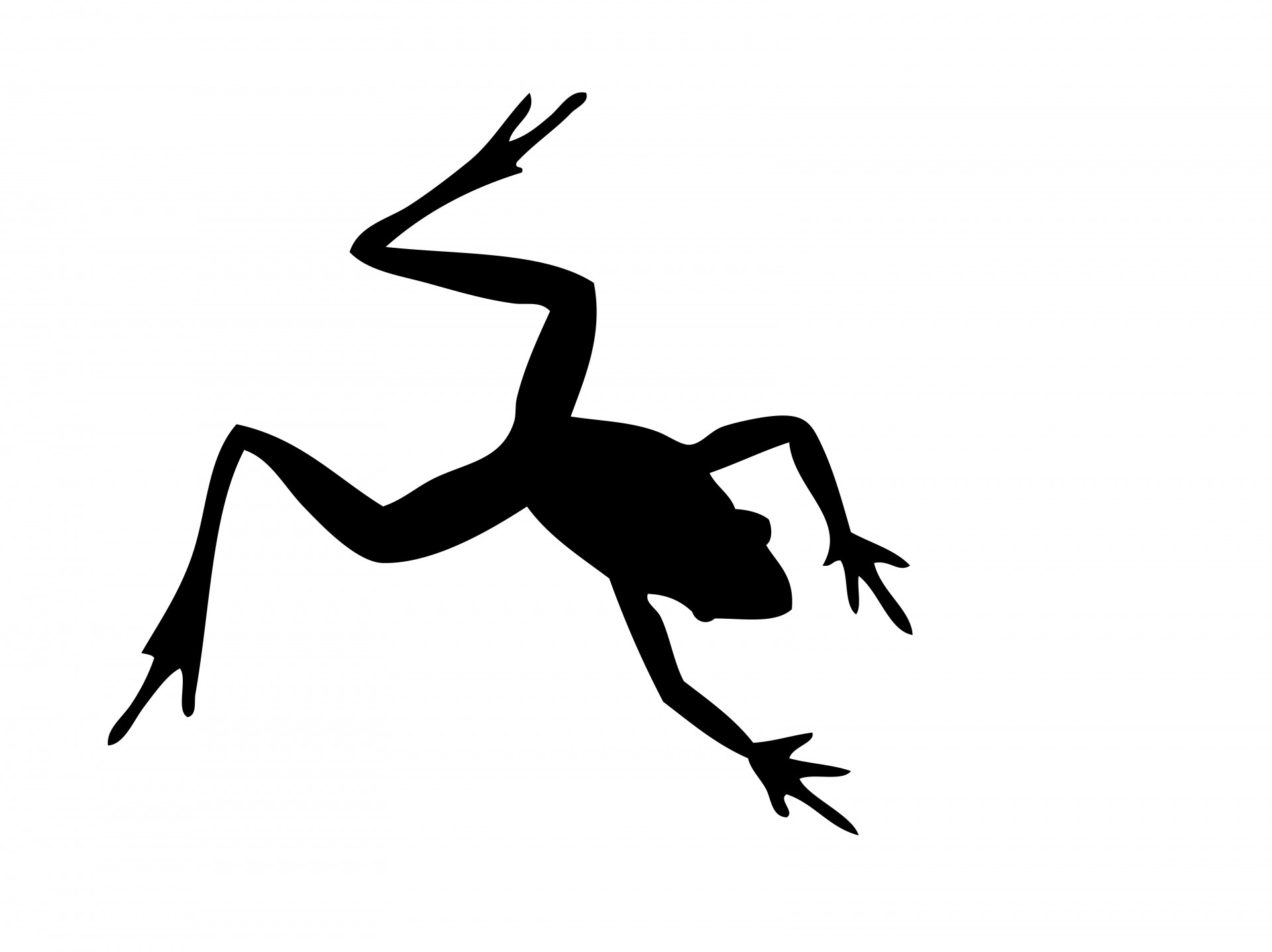 Frog Silhouette Free Stock Photo