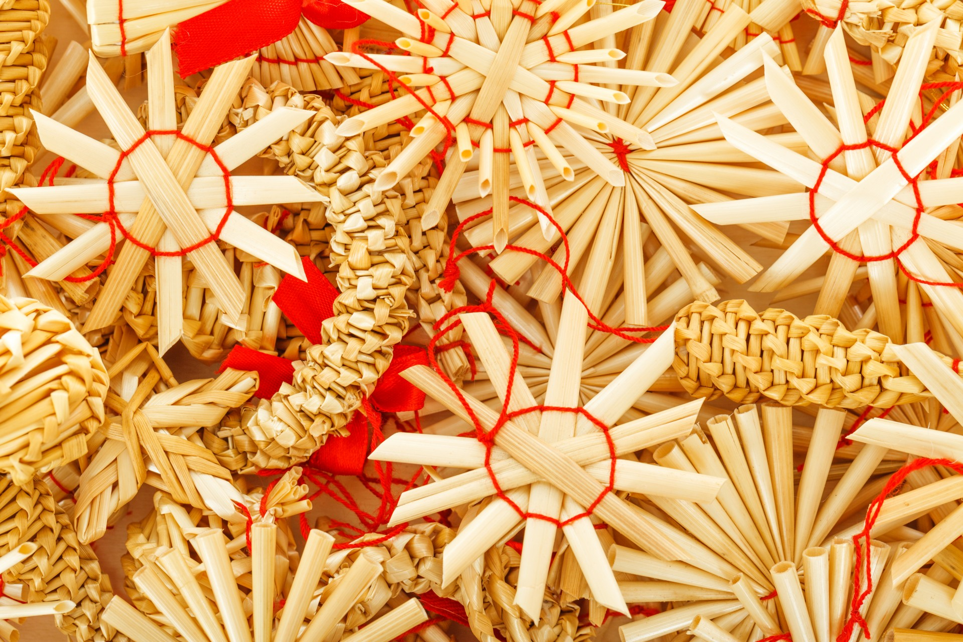 Straw Christmas Ornaments Free Stock Photo Public Domain