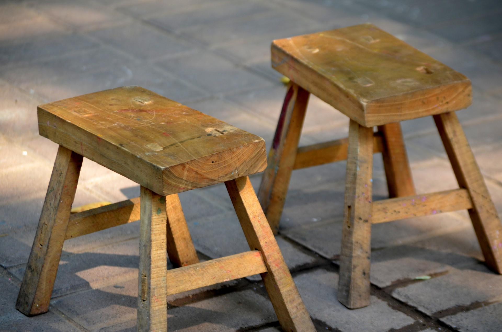 Wooden Stools Free Stock Photo  Public Domain Pictures
