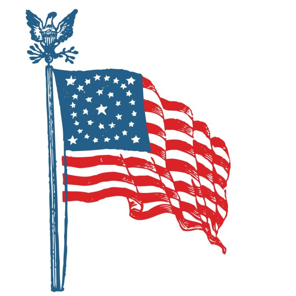 american flag clipart free stock
