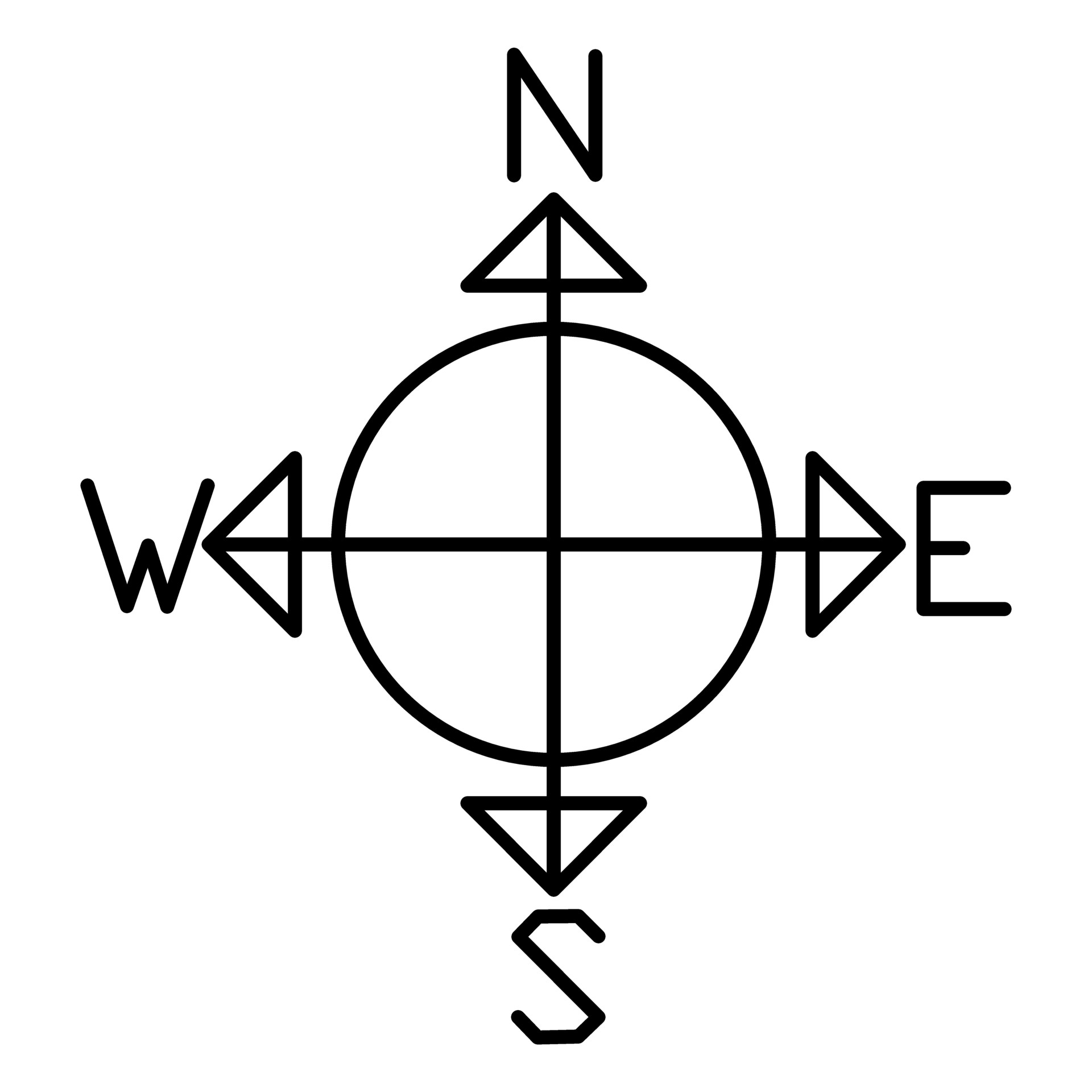 Compass Silhouette Free Stock Photo