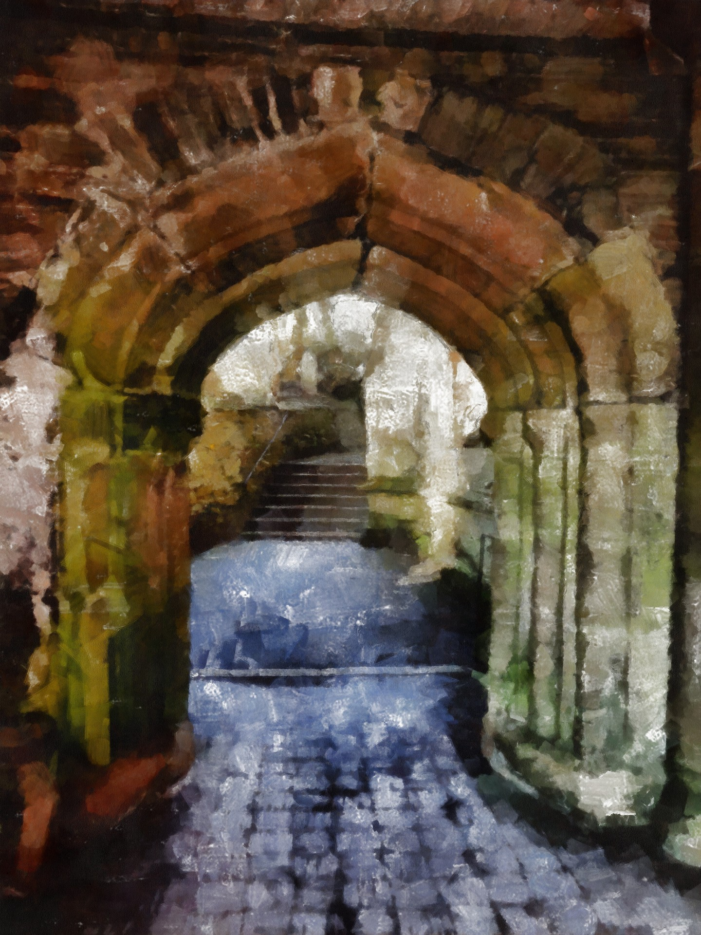 Old Archway Painting Free Stock Photo Public Domain Pictures
