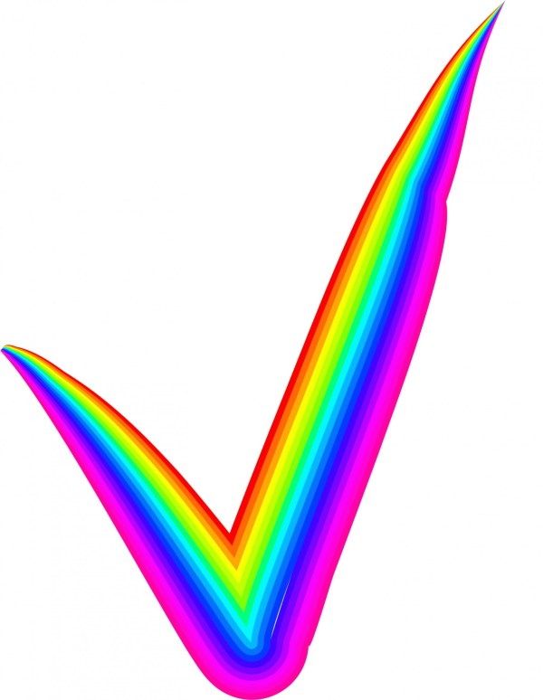 Rainbow Check Mark