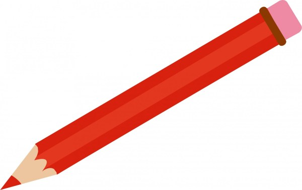 red pencil clipart free stock