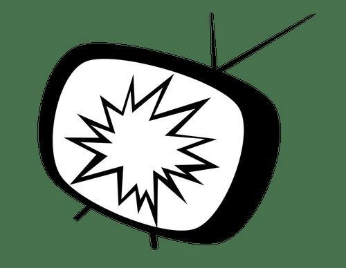Dibujo Tv. Best D Etiqueta De La Pared Diy Retro Sala Tv