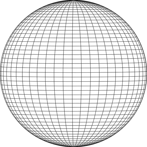 wireframe sphere public domain