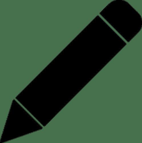 Schwarze Kreide Stift Vektor ClipArt Public Domain Vektoren