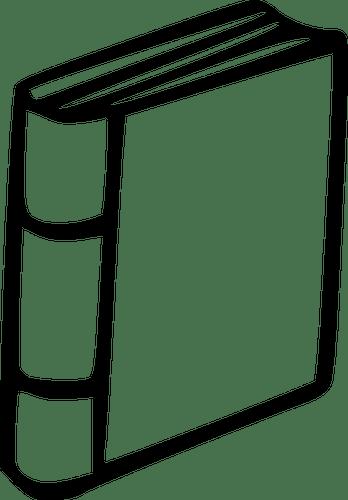 Gambar Buku Kartun Hitam Putih : gambar, kartun, hitam, putih, Vector, Illustration, Hardcover, Public, Domain, Vectors