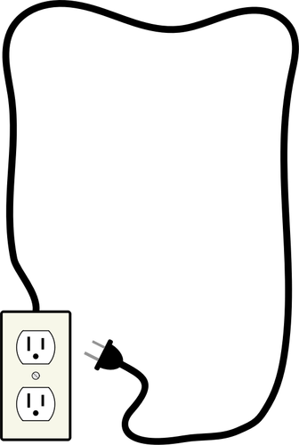 Vector illustration of electricity plug and outlet