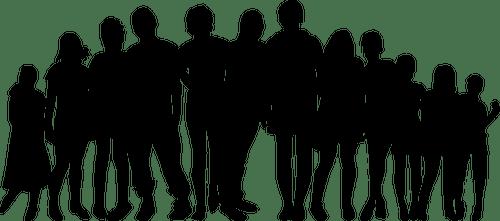 People silhouette Public domain vectors