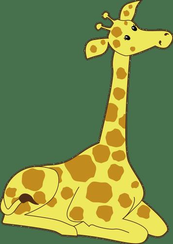 Sitzende giraffe  Public Domain Vektoren