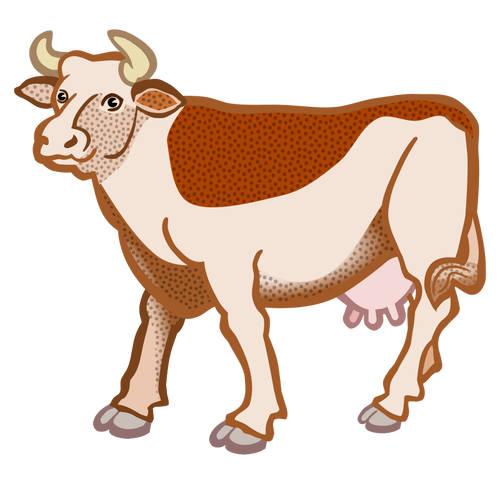 Braune Kuh  Public Domain Vektoren