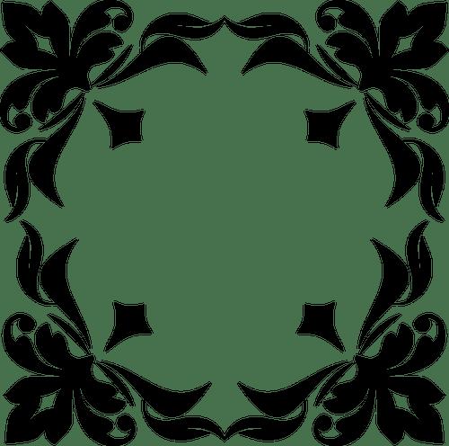 Moldura quadrada ornamental  Vectores de Domnio Pblico