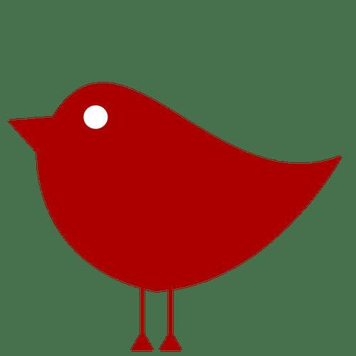 Sederhana merah burung  Domain publik vektor