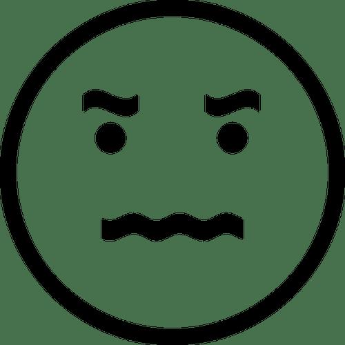 Boos emoji  Vectorafbeelding voor openbaar gebruik