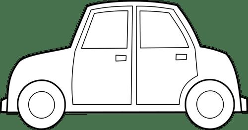 automobile vector outline
