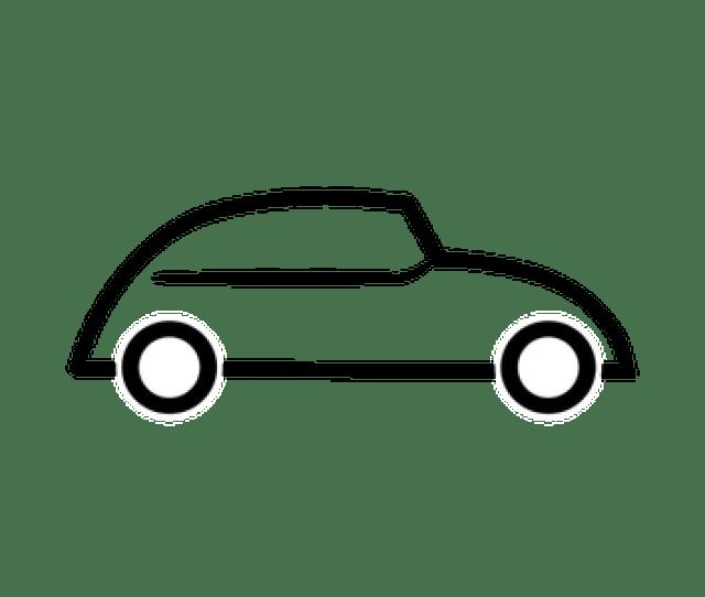Mobil Sketsa Domain Publik Vektor