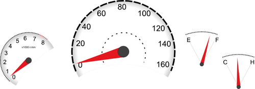 Illustration vectorielle des instruments du tableau de