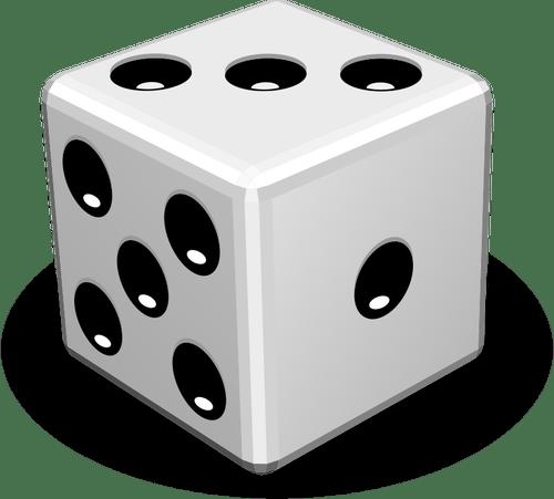 Vektor gambar closeup permainan dadu Domain publik vektor