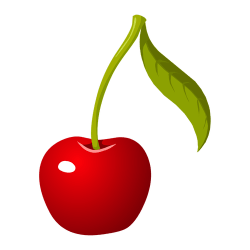 cherry single clipart food