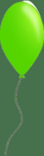 green color balloon vector