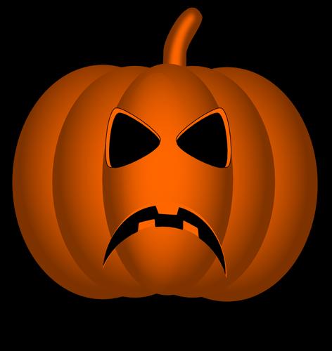 angry halloween pumpkin vector