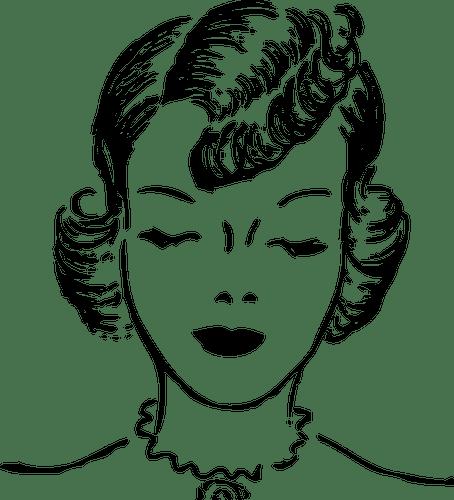 50er Jahre Frau mit geschlossenen Augen-Vektorgrafiken