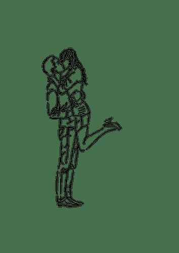 Valentine Anime Wallpaper K 252 Ssenden Paar Vektor Illustration Public Domain Vektoren