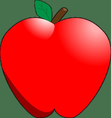 komiksow czerwony jabko wektor