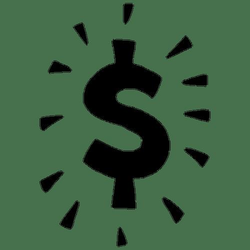 signo de dinero lar vector