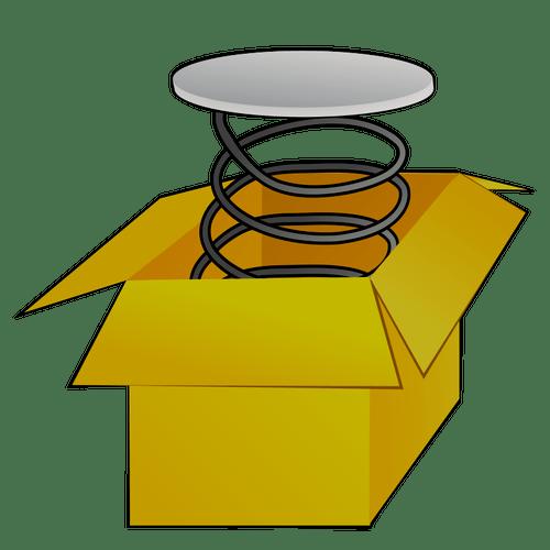 Box with spring vector image   Public domain vectors