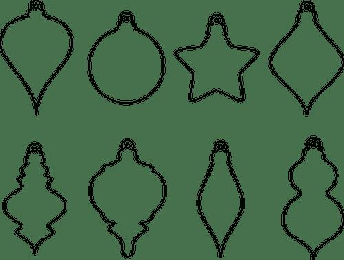 christmas ornament shapes public