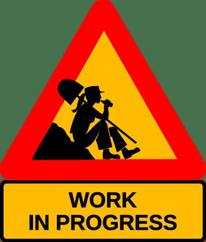 Kobieta w pracy przerwa drogowskaz | Wektory w domenie publicznej