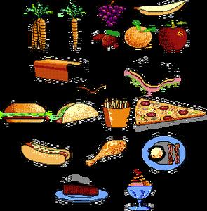 Gambar Top Gambar Kartun Makanan Minuman Kolek Anak Makan