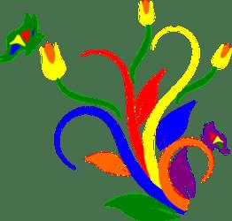 1298 flowers free clipart Public domain vectors